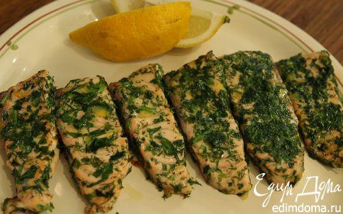 Рецепт Семга, маринованная в зелени