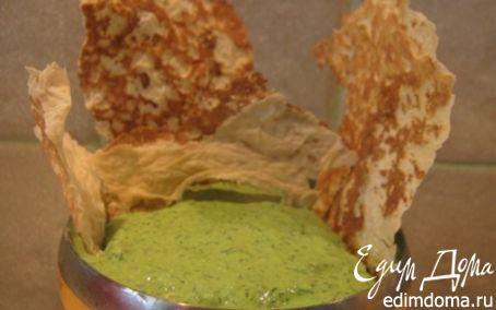 Рецепт Чипсы из лаваша с творожным кремом