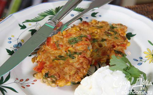 Рецепт Рисовые биточки со сладкой кукурузой и кинзой