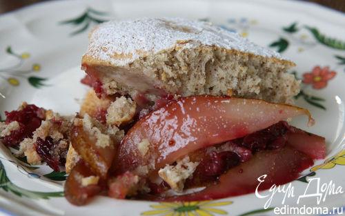 Рецепт Пирог с грушами, клюквой и орехами пекан