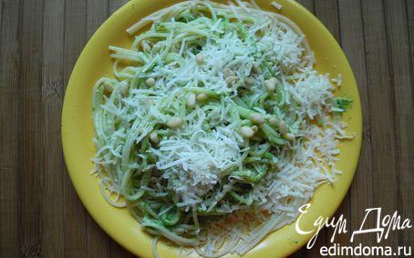 Рецепт Спагетти с песто из листьев редиски