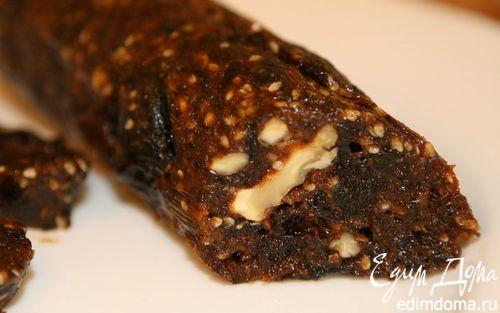 Рецепт «Салями» из чернослива с грецкими орехами