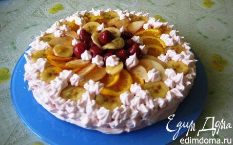 Рецепт Торт-суфле с фруктами