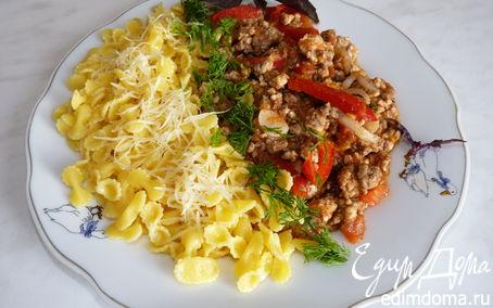 Рецепт Tripolini с мясным соусом