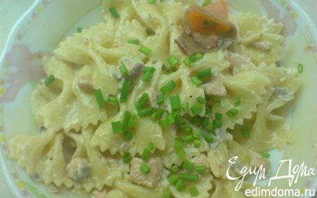 Рецепт Фарфалле с лососем под сливочным соусом