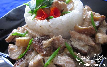 Рецепт Куриная грудка с белыми грибами