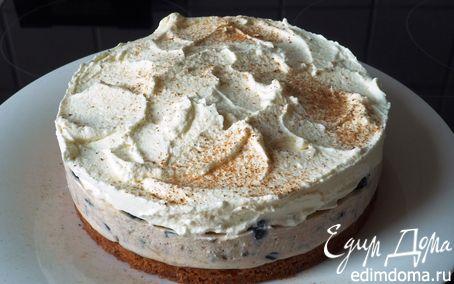 Рецепт Воздушный чернично-сливочный десерт