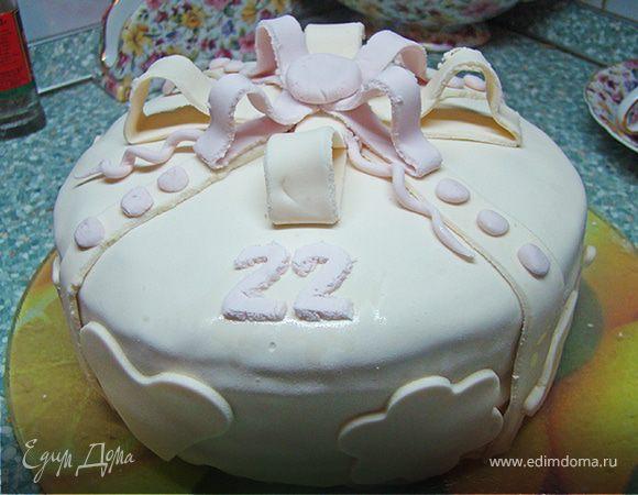 Медовик в мастике ко дню рождения любимого друга