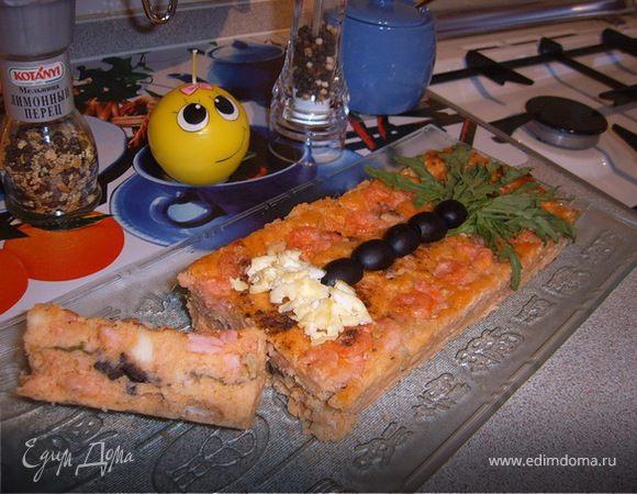 Творожно-сырный кексик с креветками «Мечты о море»