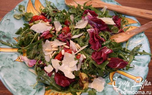Рецепт Салат с авокадо, вялеными помидорами и кедровыми орешками