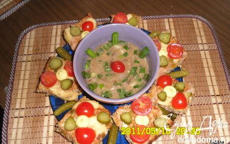 """Рецепт Мясные паштетики с рисом и зеленым горошком """"Здравствуй, август!"""""""