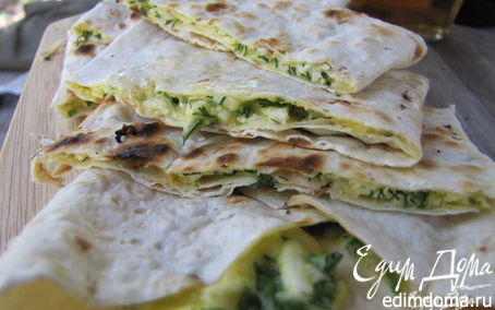 Рецепт Лаваш - а ля хачапури гриль