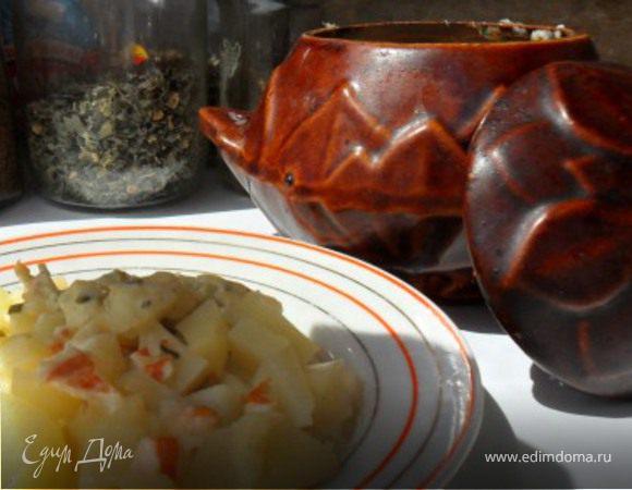 Картофель с раками