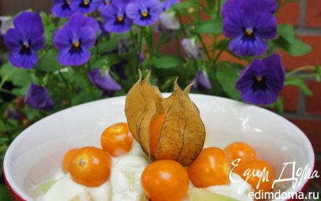 Рецепт Дынька на медовом облачке с физалис