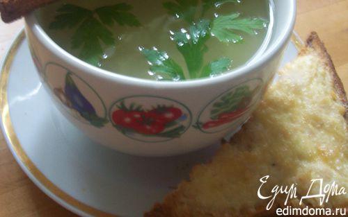 Рецепт Чесночная похлебка с сырно-куриными тостами