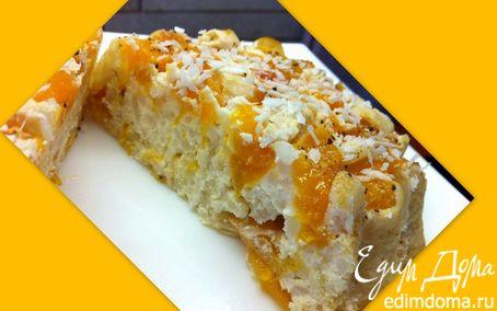 Рецепт Творожно-рисовый десерт с персиками