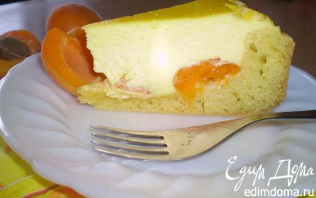 Рецепт Абрикосовый пирог с нежной творожной начинкой