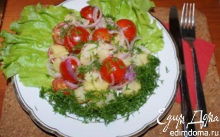 Рецепт Салат из картофеля с помидорами по-деревенски