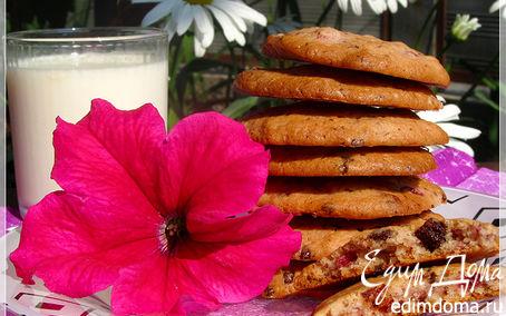Рецепт Печенюшки с клубникой и шоколадной крошкой