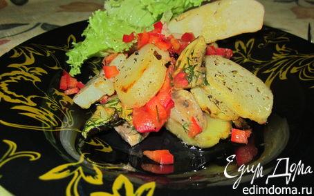 Рецепт Запеченный картофель с лесными грибами