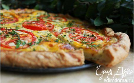 Рецепт Творожный пирог с сыром и томатами