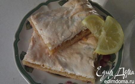"""Рецепт Лимонный пирог под""""покрывалом""""из безе."""