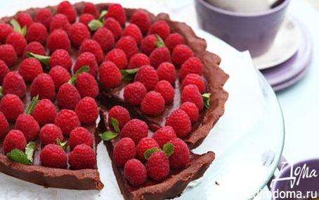 Рецепт Шоколадный тарт с малиной