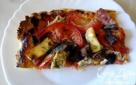 Рецепт Слоеная пицца с копченой грудкой