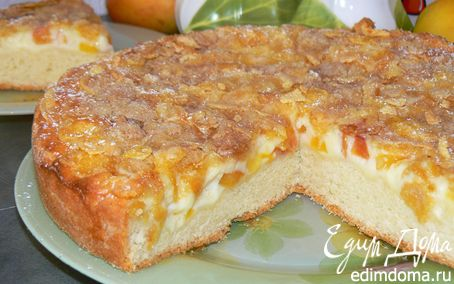 Рецепт Пирог с нектаринами и кукурузными хлопьями