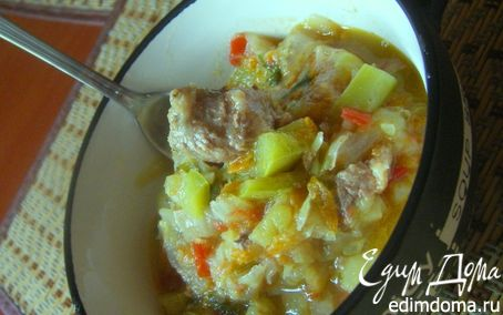 Рецепт Летнее овощное рагу с мясом( и без)