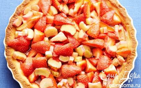 Рецепт Тарт с клубникой и ревенем