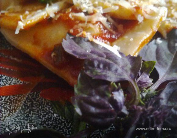 Равиоли с 4-мя видами мяса в томатном соусе
