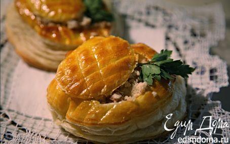 Рецепт Слоёные тарталетки с курицей