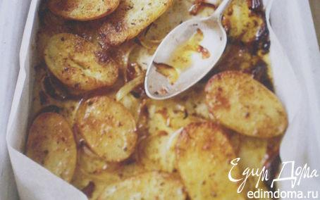 Рецепт Запечёный молодой картофель со специями.