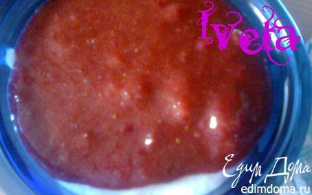Рецепт Творожное желе с клубничным соусом