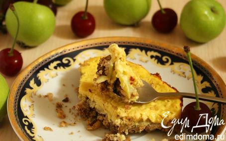 Рецепт Овсяный пирог с йогуртовой заливкой