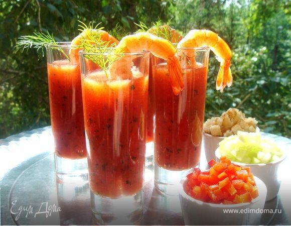 Летний томатный суп