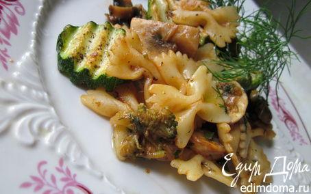 Рецепт Паста с грибами и овощами