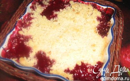 Рецепт Сливовый крамбл с орехами