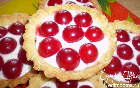 Рецепт Песочные тарталетки с вишней