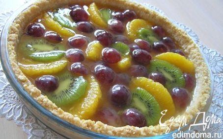 Рецепт Пирог со свежими фруктами