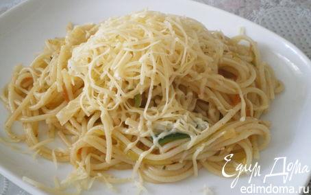 Рецепт Спагетти с овощами.