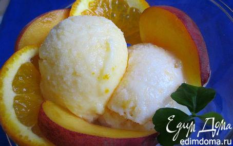 Рецепт Апельсиновое и персиковое мороженое