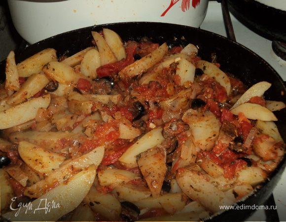 Картофель с помидорами по-провансальски