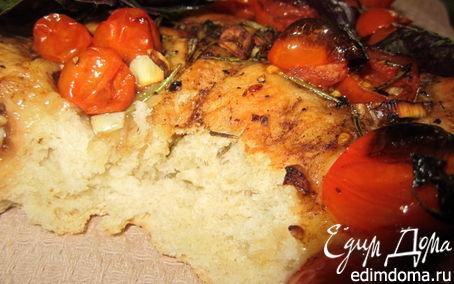 Рецепт Фокачча с бальзамическими помидорами.