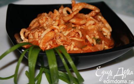 Рецепт Щупальца кальмара в томатном соусе