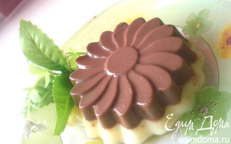 Рецепт Дынно-шоколадный йогуртовый пудинг