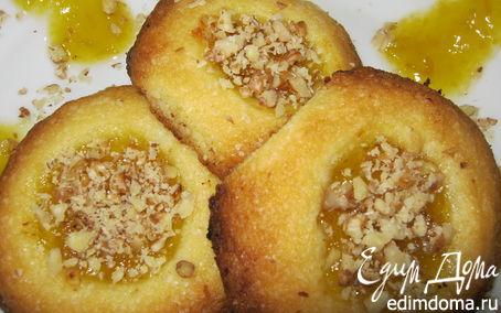 Рецепт Печенье с джемом и орехами.