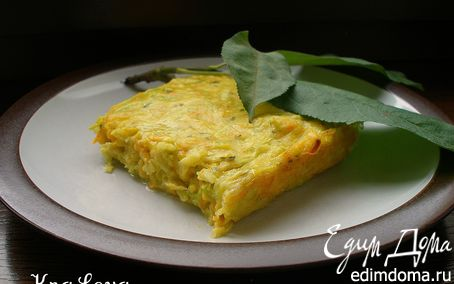 Рецепт Кабачково-морковная запеканка с пармезаном