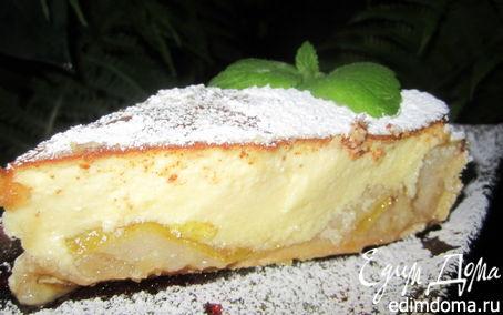 Рецепт Тарт с карамелизированными фруктами и творожным пудингом.